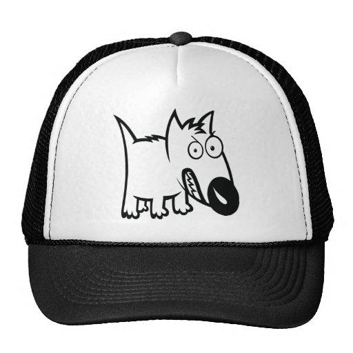 かわいくおこりっぽい漫画犬 帽子
