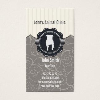 獣医師やトリマー、ケンネル用動物モチーフ名刺