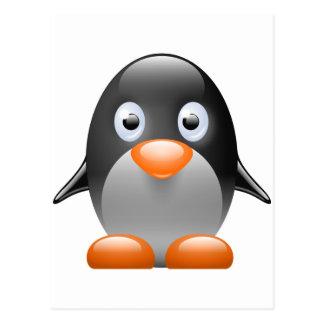 ペンギンのタキシードのLinuxのイメージ ポストカード