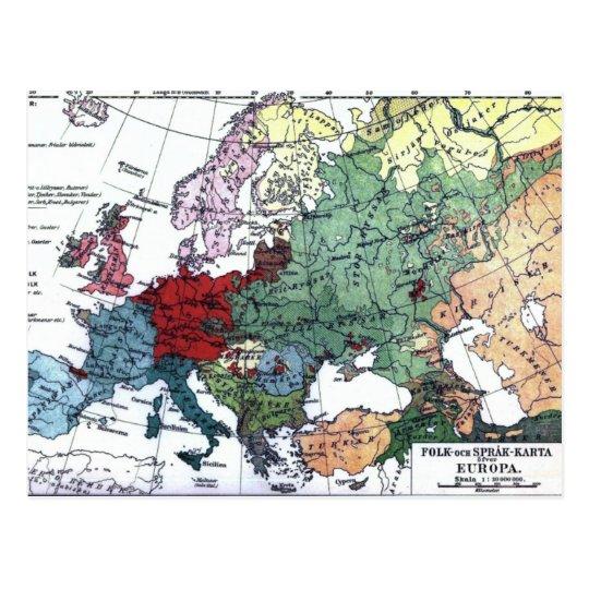 ヨーロッパ1876年のヴィンテージの地図 ポストカード | Zazzle.co.jp