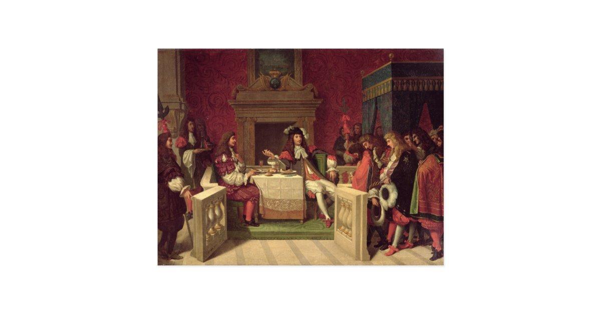 ルイ14世1857年と食事するMoliere ポストカード | Zazzle.co.jp