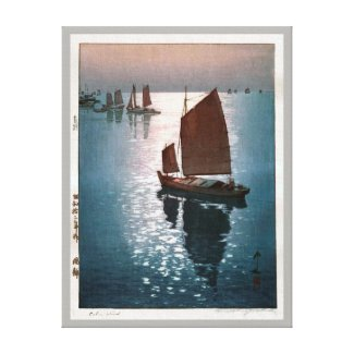 凪静、吉田博の穏やかな風、ひろし吉田の木版画