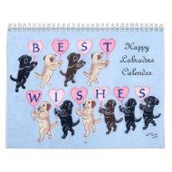 幸せなラブラドールのカレンダー