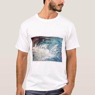 渓流の急流、ひろし吉田の木版画