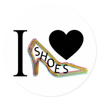 私は靴を愛します 13.3 スクエアインビテーションカード