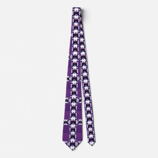 紫色でか白または青男性へファッションパターンタイ ネックウェアー