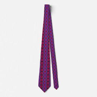 紫色で、男性へ、ファッションパターンタイ黒赤い カスタムネクタイ