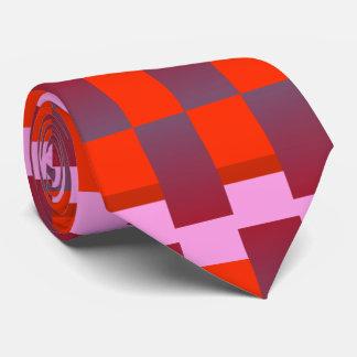 赤いファッションパターンタイ4の人かオレンジまたは紫色またはピンク ネックウェアー