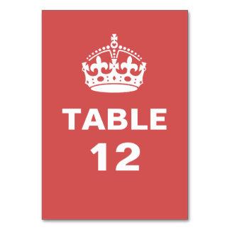 テーブルカード