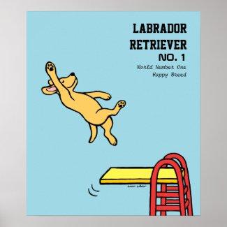 黄色いラブラドールのダイビングの漫画