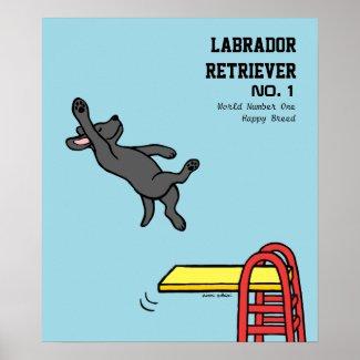 黒いラブラドールのダイビングの漫画