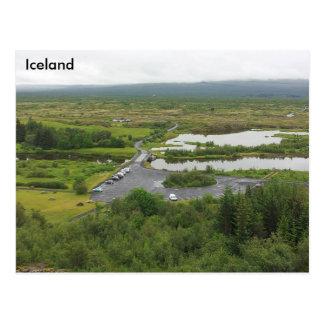 Þingvellirの国立公園、アイスランド-ユネスコ ポストカード