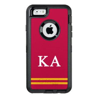Κのアルファ順序 のスポーツのストライプ オッターボックスディフェンダーiPhoneケース