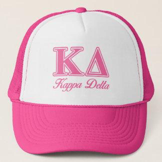 Κのデルタのピンクの手紙 キャップ