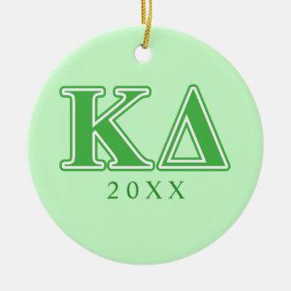 Κのデルタの緑の手紙 セラミックオーナメント