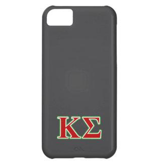 Κシグマ赤いおよび緑の手紙 iPhone5Cケース