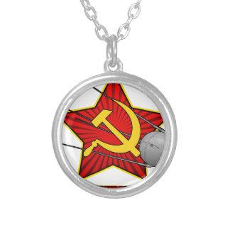 Спутник Sputnikポスター芸術 シルバープレートネックレス
