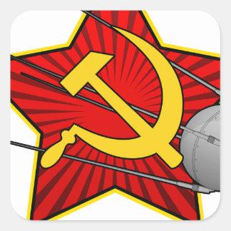 Спутник Sputnikポスター芸術 スクエアシール