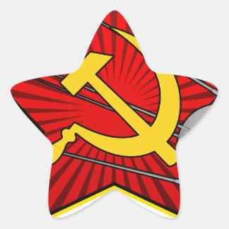 Спутник Sputnikポスター芸術 星シール