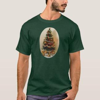 ああ、クリスマスツリーの人の基本的な暗いTシャツ Tシャツ