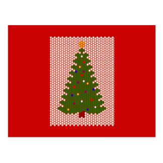 ああ、クリスマスツリー! ビードパターン ポストカード