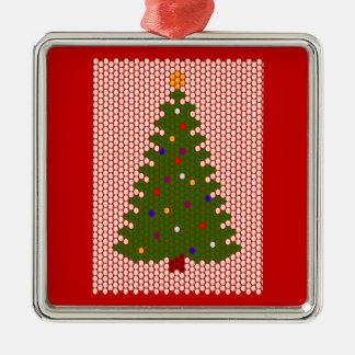 ああ、クリスマスツリー! ビードパターン メタルオーナメント