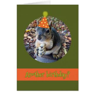 ああ、ナット!  おもしろいなリスとの別の誕生日 カード