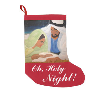 ああ、神聖な夜クリスマスのストッキング スモールクリスマスストッキング