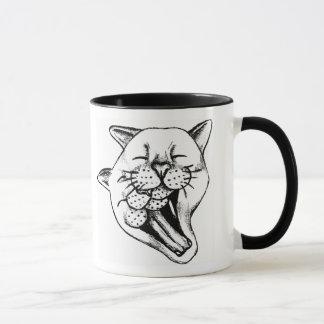 あくびをすること マグカップ