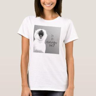 あくびをする猫のTシャツ Tシャツ
