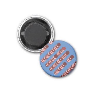 あずき色のウエファーの磁石 マグネット