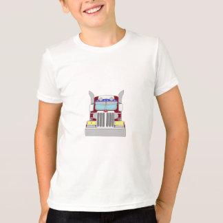 あずき色のトラック Tシャツ