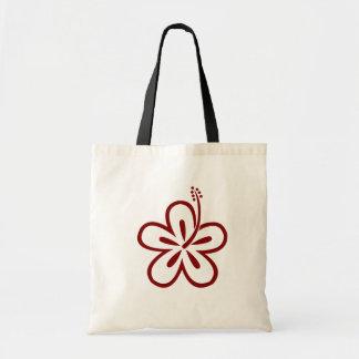 あずき色のハイビスカスの花 トートバッグ
