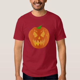 あずき色のハロウィンのカボチャ シャツ