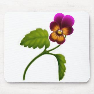 あずき色のビオラの花のマウスパッド マウスパッド