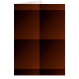 あずき色のブラウンのフランネルの点検の一見の正方形 カード