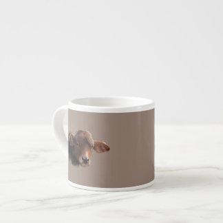 あずき色のブラウン牛ポートレート エスプレッソカップ
