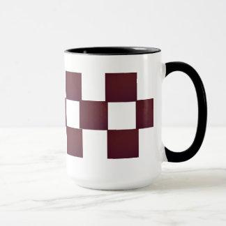あずき色のブロック マグカップ