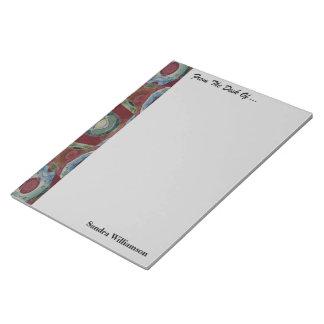 あずき色のモザイク模様 ノートパッド
