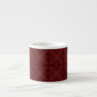 あずき色の三角形のモザイク エスプレッソカップ