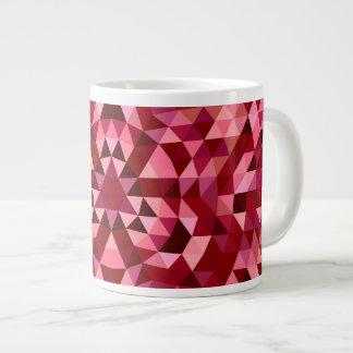 あずき色の円の三角形パターン ジャンボコーヒーマグカップ