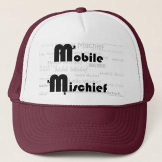 あずき色の移動式害のトラック運転手の帽子 キャップ