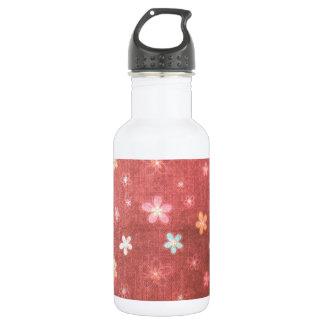 あずき色の花パターン 532ML ウォーターボトル