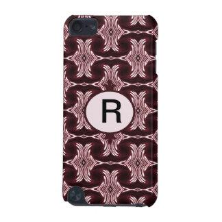 あずき色の赤いアール・デコ iPod TOUCH 5G ケース