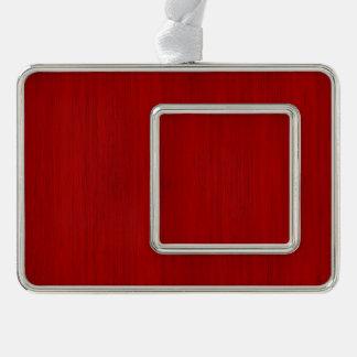 あずき色の赤いタケ木製の穀物の一見 シルバープレートフレームオーナメント