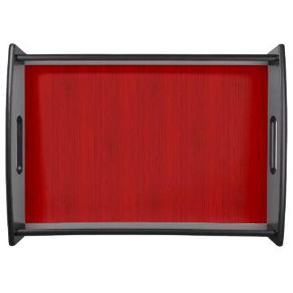 あずき色の赤いタケ木製の穀物の一見 トレー