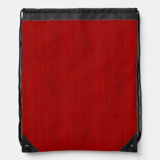 あずき色の赤いタケ木製の穀物の一見 ナップサック
