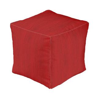 あずき色の赤いタケ木製の穀物の一見 プーフ