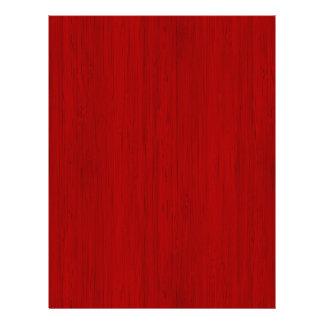 あずき色の赤いタケ木製の穀物の一見 レターヘッド