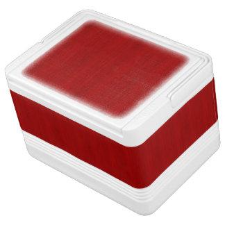 あずき色の赤いタケ木製の穀物の一見 缶クーラー